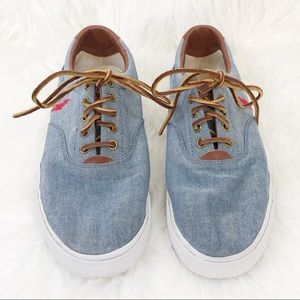 Polo Canvas Sneakers Chambray Vaughn Size 10.5